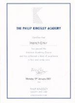 Philip Kingsley certificate
