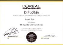 L'Oreal diploma