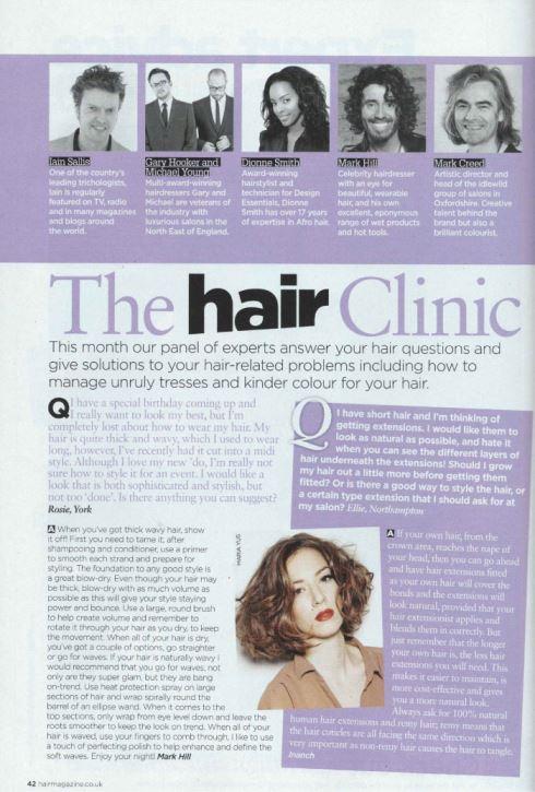 Hair Magazine - January 2016 - Article
