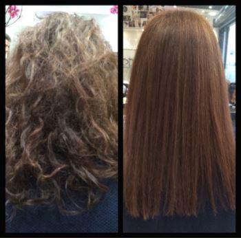 Yuko Hair Straigtening Before & After