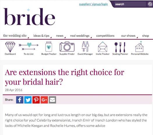 Bride Mag Cover April